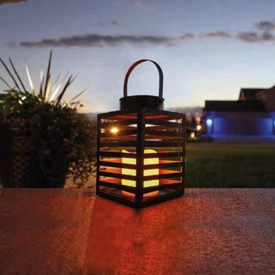 Ορθογώνιο πορτατίφ 20cm μεταλλικό LED με μπαταρίες