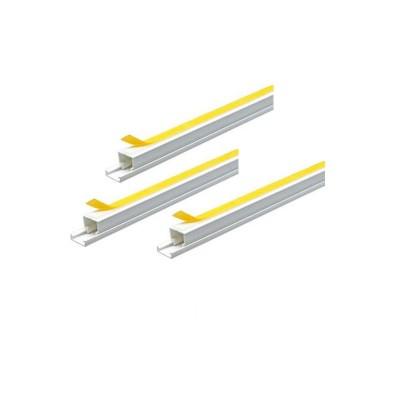 Αυτοκόλλητο λευκό κανάλι PVC 2m για στερέωση ταινίας strip128