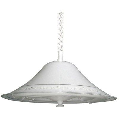 Κρεμαστό φωτιστικό φθορίου λευκό Ø48cm από plexiglass