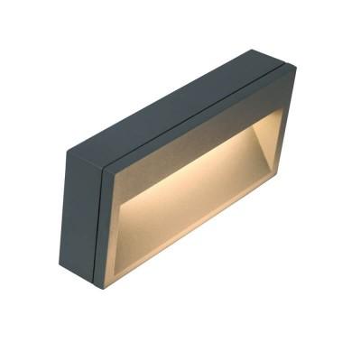 Στεγανή απλίκα ανθρακί LED Down 20x11cm