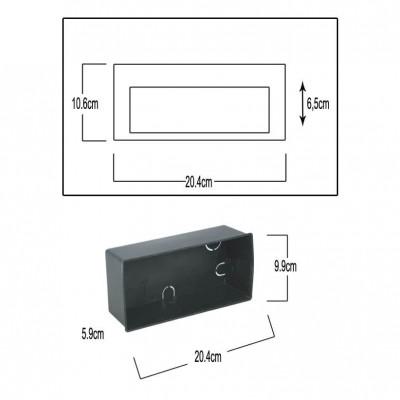 Στεγανή χωνευτή απλίκα ανθρακί LED Down 20x11cm