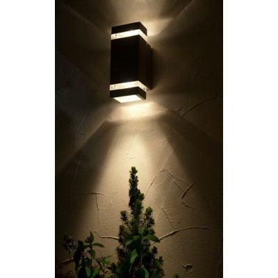 Ορθογώνια στεγανή απλίκα LED Up & Down