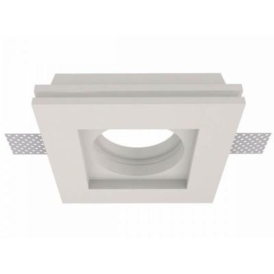 Χωνευτό γύψινο σποτ οροφής 10x10cm