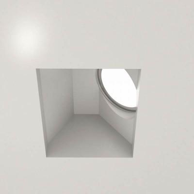 Χωνευτό σποτ οροφής 12x12cm γύψινο