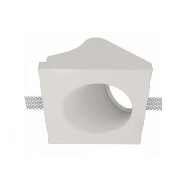 Χωνευτό γύψινο σποτ οροφής 12x12cm