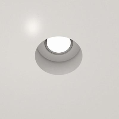 Χωνευτό γύψινο σποτ οροφής Ø13cm