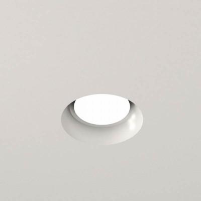 Χωνευτό γύψινο σποτ οροφής Ø10cm