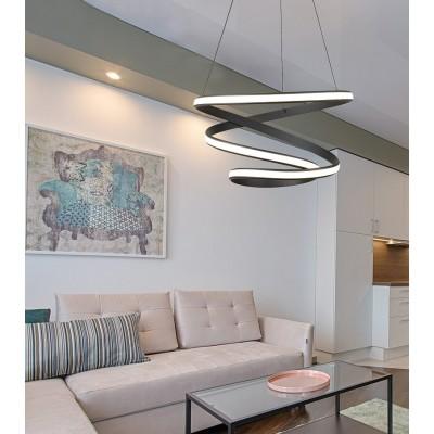 Κρεμαστό σπειροειδές φωτιστικό LED Ø60cm μαύρο