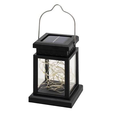 Ηλιακό φωτιστικό φαναράκι με γιρλάντα LED και αισθητήρα ημέρας-νύχτας