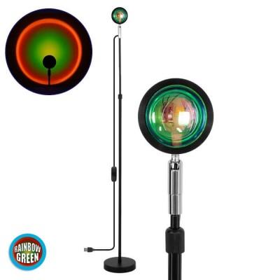 Φωτιστικό δαπέδου 94cm με φακό ειδικού εφέ LED Rainbow Green