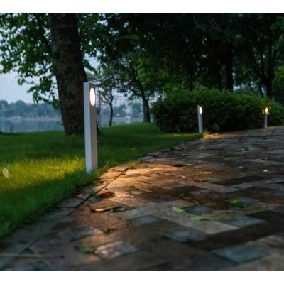 Λευκό μεταλλικό κολωνάκι κήπου LED 50cm