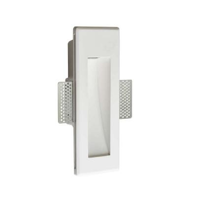 Κάθετο χωνευτό σποτ τοίχου γύψινο 24.5x8.8cm LED