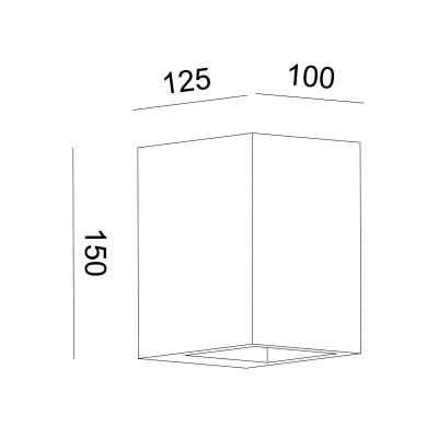 Γύψινη ορθογώνια απλίκα G9 Up&Down