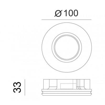Γύψινο σποτ οροφής χωνευτό Ø10cm