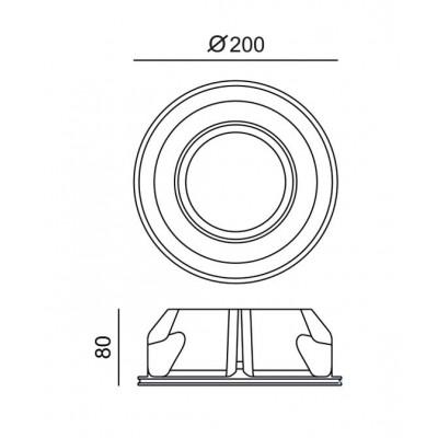 Χωνευτό γύψινο σποτ στρογγυλό Ø10cm για λάμπα AR111