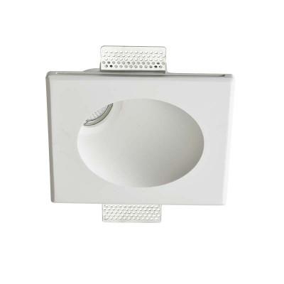 Γύψινο χωνευτό σποτ τοίχου ή οροφής GU10 16.5x19.5cm