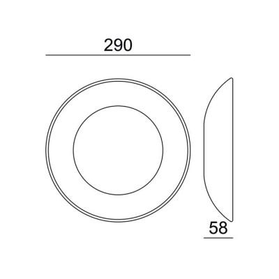 Γύψινη λευκή απλίκα LED Ø29cm