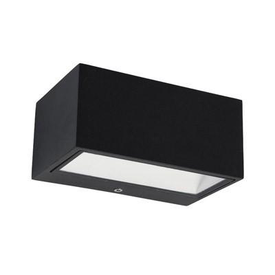 Ορθογώνια στεγανή απλίκα αλουμινίου LED ανθρακί