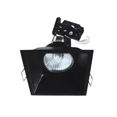 Χωνευτό τετράγωνο σποτ κρυφού φωτισμού ατσάλινο GU10 88x88mm με τρύπα κοπής 80x80mm