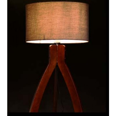 Ξύλινο τρίποδο επιτραπέζιο φωτιστικό ACA