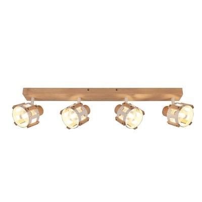 Τετράφωτο σποτ οροφής ξύλινο 72cm