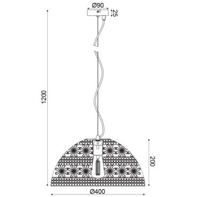 Μοντέρνα μεταλλική καμπάνα από πλέγμα Ø40cm ACA
