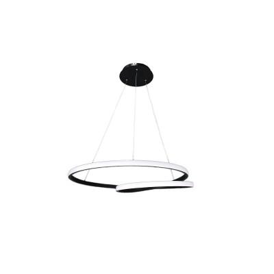 Κρεμαστό φωτιστικό Ø60cm διπλός κύκλος με ασύρματο χειρισμό