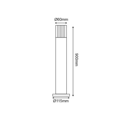 Στεγανός κυλινδρικός στύλος Ø6cm