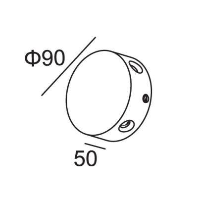 Στρογγυλή απλίκα τετραπλής φωτεινής κατεύθυνσης