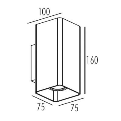 Ορθογώνια απλίκα αλουμινίου