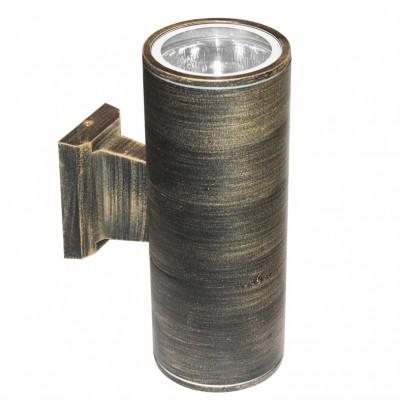 Κυλινδρικό δίφωτο σποτ τοίχου Ø17cm ύψους 28cm από αλουμίνιο