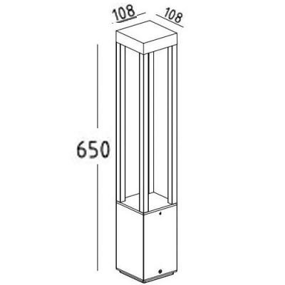 Στεγανό κολωνάκι LED 65cm