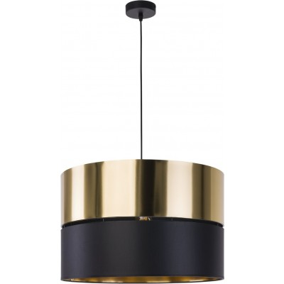 Μοντέρνο κρεμαστό φωτιστικό μαύρο με χρυσαφί Ø50cm