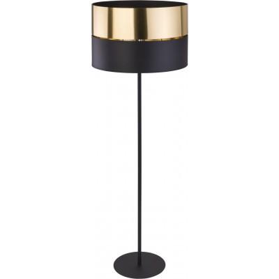 Μοντέρνο φωτιστικό δαπέδου μαύρο με χρυσαφί 150cm