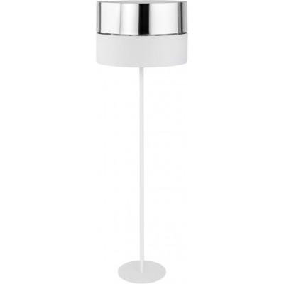 Μοντέρνο φωτιστικό δαπέδου λευκό με ασημί 150cm