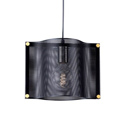 Μοντέρνο μονόφωτο φωτιστικό 29x20cm μαύρο μεταλλικό