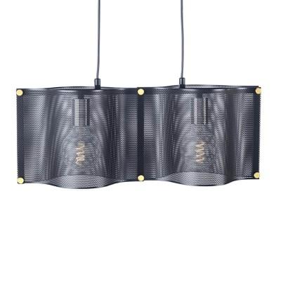Μοντέρνο δίφωτο φωτιστικό 57x20cm μαύρο μεταλλικό