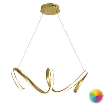 Σπιράλ κρεμαστό φωτιστικό LED 64cm