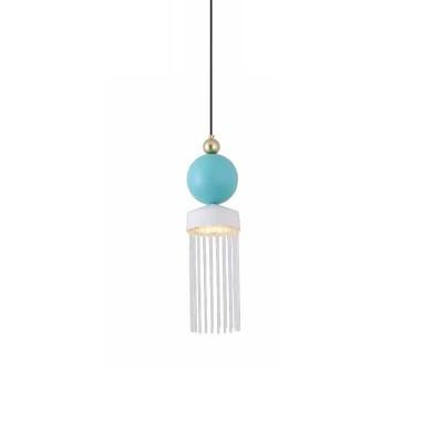 Κρεμαστό LED dimmable Ø15cm λευκό-γαλάζιο-χρυσό