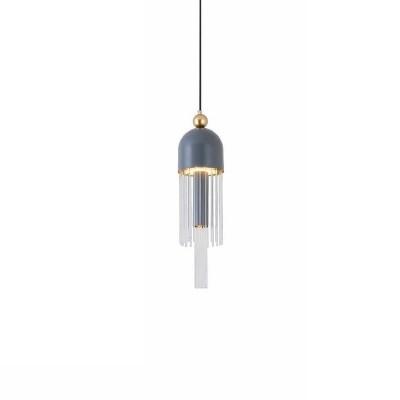 Κρεμαστό LED dimmable Ø15cm γκρι-χρυσό