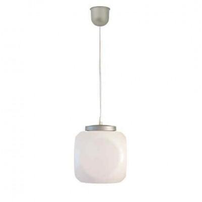 Στεγανό κρεμαστό φωτιστικό Φ27cm κύβος με PVC καλώδιο