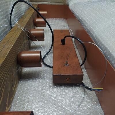 Πεντάφωτο κρεμαστό 100cm από μέταλλο και ξύλο