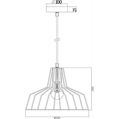 Κρεμαστή καμπάνα Ø30cm από μαύρο μεταλλικό πλέγμα