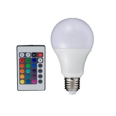 Λάμπα E27 LED RGB-3000K Dimmable με τηλεχειριστήριο