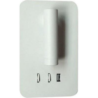 Χωνευτή απλίκα reading 11x18cm LED με backlight και θύρα USB