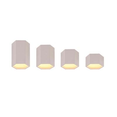 Λευκό πολυγωνικό φωτιστικό οροφής LED