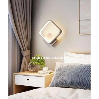 Φωτιστικό τοίχου LED τετράγωνο με τριπλό φωτισμό