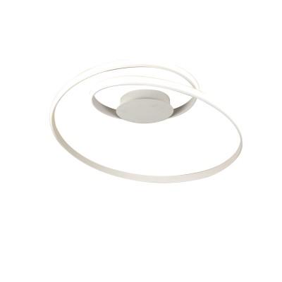 Σπειροειδές φωτιστικό οροφής LED Ø80cm λευκό