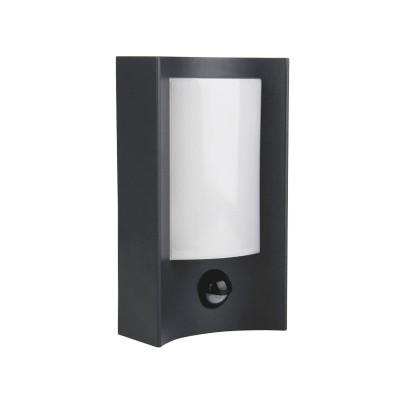 Στεγανή απλίκα αλουμινίου LED 20x11cm με αισθητήρα κίνησης