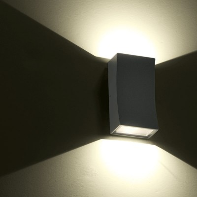 Απλίκα αλουμινίου LED Up&Down με καμπύλη